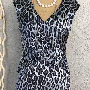 Cache sleeveless leopard print NWOT